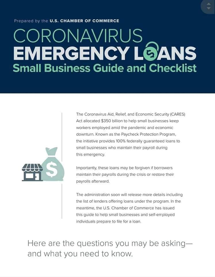 Solano County Small Business Coronavirus SBA loans